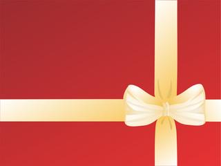 goldene geschenkschleife