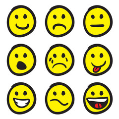 Cartoon Smiley Faces