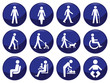 Signage type people icon set each individually layered