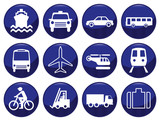 Fototapety Transport icon set each icon individually layered