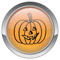 Bouton Halloween avec Citrouille
