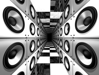 Fototapeta 3D głośniki abstrakcja