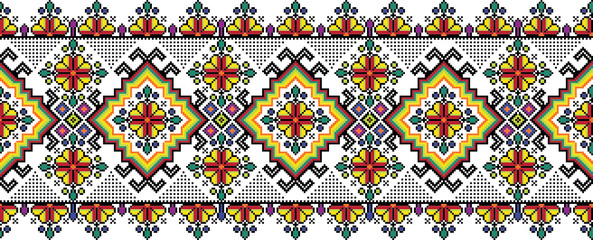Ukrainian illustrator vector pattern