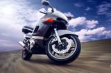 Fototapety Motorcycle outdoor on speed