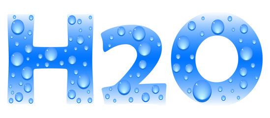 h2o formula vector illustration