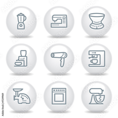 Gray icons set 19