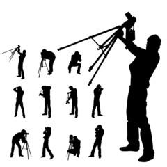 photographer silhouette set