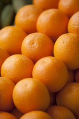 oranges in a stack