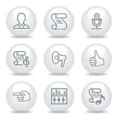 Gray icons set 31