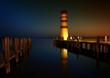 nachts beim alten Leuchtturm