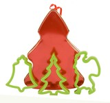 CHRISTMAS COOKIE CONTAINER WITH COOKIE MOLDS poster
