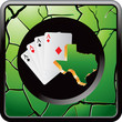 Texas hold em on green cracked web icon