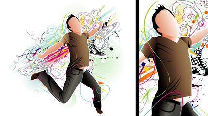 man jumping vector © chispas