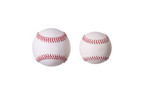 Regular size baseball and training size baseball poster