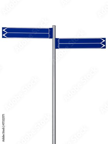 blank signpost. Blank signpost
