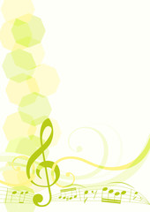 musical theme background. vector