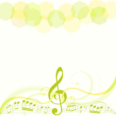 musical theme background. vector illustration