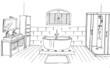 esquisse salle de bains