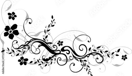 """blumen ranke filigran floral schnörkel blüten"