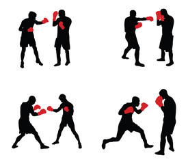 people boxing vector image