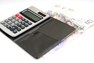 Calculator and cash