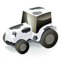 Tracteur vache (reflet)