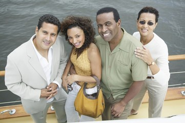 Four Friends on Yacht