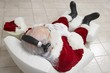 Santa Claus Relaxing in Armchair