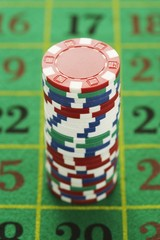 Chips on Roulette Table