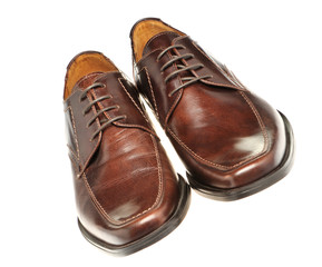 Pair a shoe a brown leather