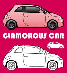 Picto de voiture glamour
