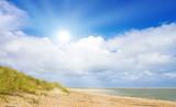 Fototapety Ein idyllischer Tag im Sommer an der Nordsee