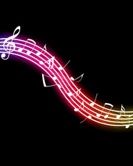 Glowing Music Notes. Please visit my portfolio for more.