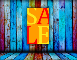 Sale Sign with Space for Your Images