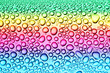beautiful colorful drops on the glass