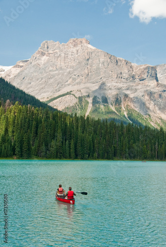 couple in kayak on a canadian lake