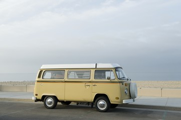 Camper van at the beach