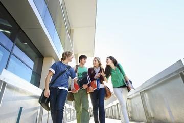 University students on campus