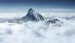 Leinwandbild Motiv Mountain in the clouds