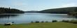 Summer camp on an alpine lake
