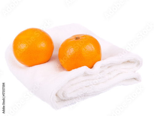 Towel and tangerines