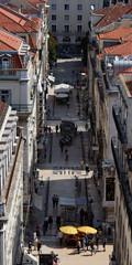 Blick auf die Baixa in Lissabon