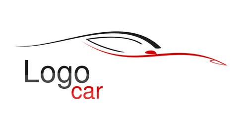 Logo voiture gris rouge