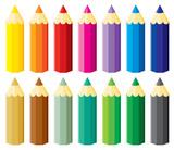 Fototapety Pencils set
