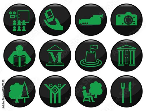 zestaw-czarny-ikona-rozrywki-i-wypoczynku