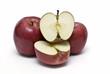 Manzanas cortadas.
