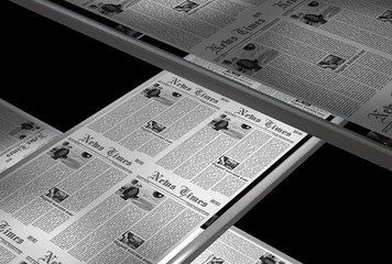 Newspaper press, 4:3 aspect - seamless, 6 sec. alpha matte