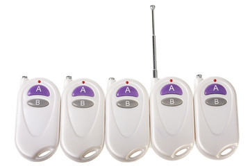 remote controls isolated on the white background