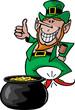Leprechaun wit pot of gold