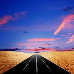route in the desert